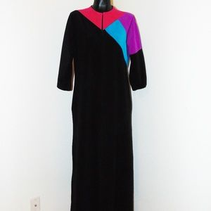 Vtg 70s Colorful House Robe by Vanity Fair sz S